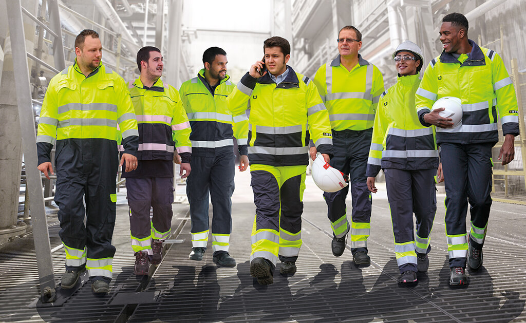 A group image Of PPE hi-visibility clothing, image was taken in Doncaster South Yorkshire